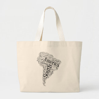 South America in Tagxedo Tote Bags