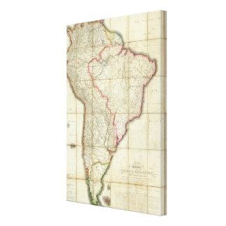 South America map 2 Canvas Print