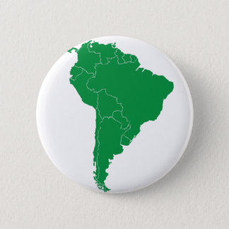 South America Map 6 Cm Round Badge
