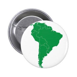 South America Map 6 Cm Round Badge