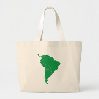 South America Map Tote Bags