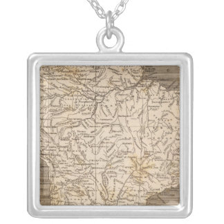 South America Map by Arrowsmith Silver Plated Necklace
