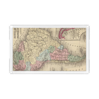 South America Map by Mitchell Acrylic Tray