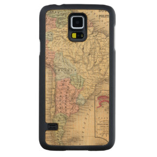 South America Map by Mitchell Carved Maple Galaxy S5 Case