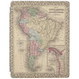 South America Map by Mitchell iPad Cover