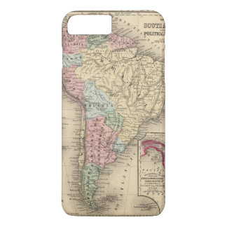 South America Map by Mitchell iPhone 8 Plus/7 Plus Case