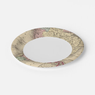 South America Map by Mitchell Paper Plate