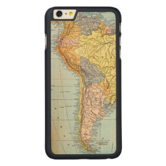 SOUTH AMERICA: MAP, c1890 Carved Maple iPhone 6 Plus Case