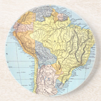 SOUTH AMERICA: MAP, c1890 Coaster