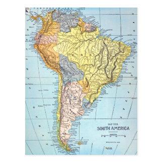 SOUTH AMERICA: MAP, c1890 Postcard