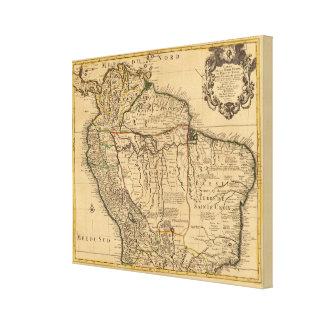 South America map Canvas Print