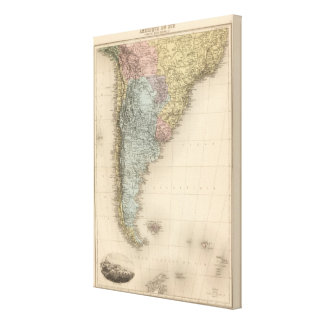 South America Part Medionale Canvas Print