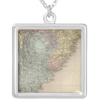 South America Part Medionale Silver Plated Necklace
