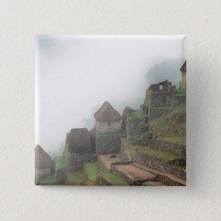 South America Peru Macchu Picchu 15 Cm Square Badge
