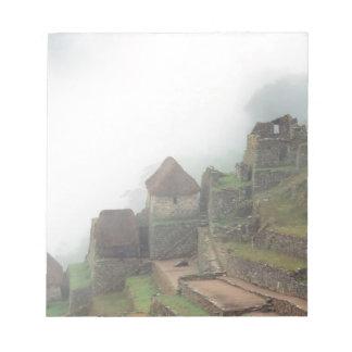 South America Peru Macchu Picchu Notepad