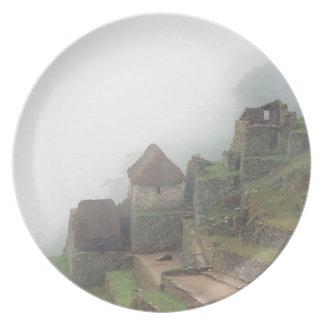 South America Peru Macchu Picchu Plate
