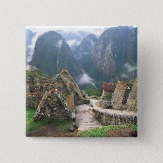 South America, Peru, Machu Picchu 15 Cm Square Badge