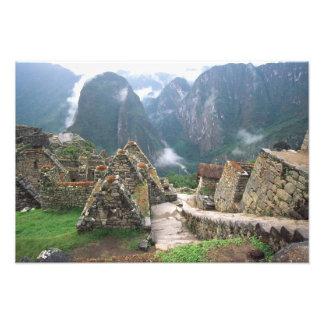 South America, Peru, Machu Picchu Photographic Print