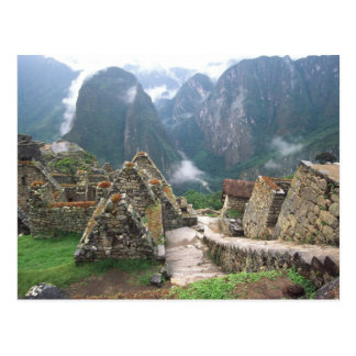 South America, Peru, Machu Picchu Postcard