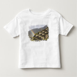 South America, Peru, Machu Picchu. Rainbows over Toddler T-Shirt