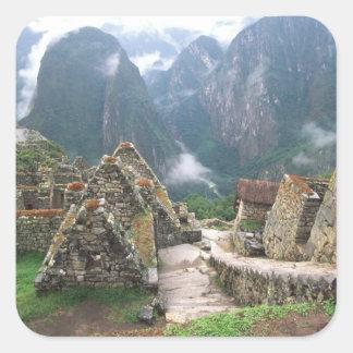 South America, Peru, Machu Picchu Square Sticker