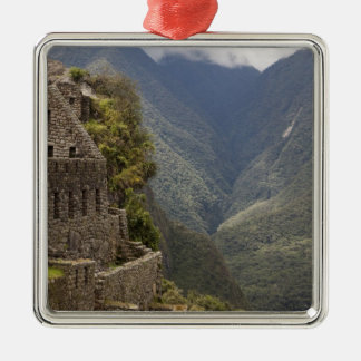 South America, Peru, Machu Picchu. Stone ruins Christmas Ornament