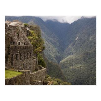 South America, Peru, Machu Picchu. Stone ruins Post Card