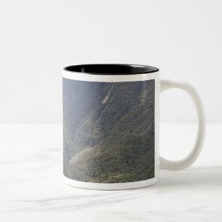 South America, Peru, Machu Picchu. Stone ruins Two-Tone Coffee Mug