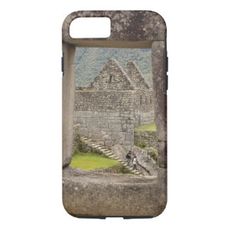 South America, Peru, Machu Picchu. Two tourists iPhone 8/7 Case
