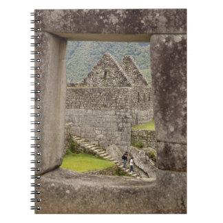 South America, Peru, Machu Picchu. Two tourists Notebook