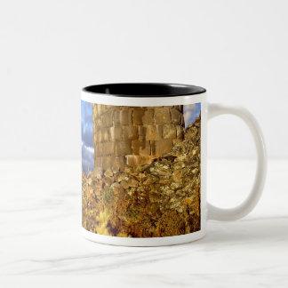 South America, Peru, near Lake Titicaca. Two-Tone Coffee Mug