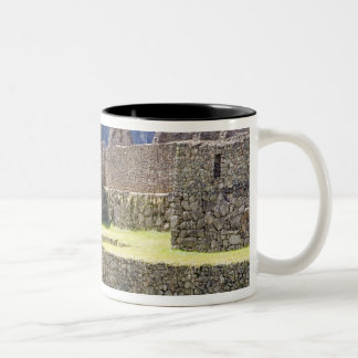 South America - Peru. Stonework in the lost Inca Two-Tone Coffee Mug