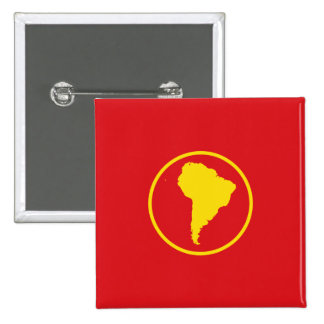 South America Proposal flag Pinback Buttons
