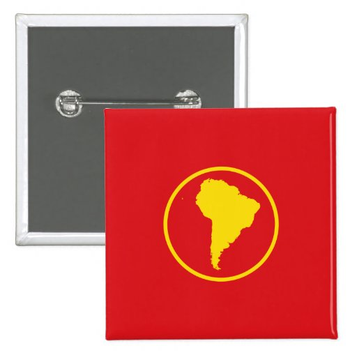 South America (Proposal) flag Pinback Buttons