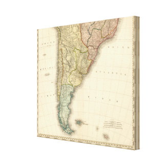South America southern half Canvas Print