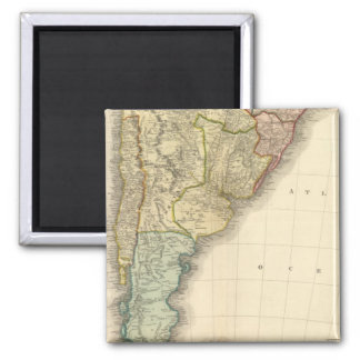 South America southern half Square Magnet
