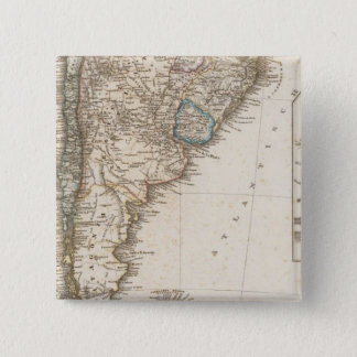 South America southern region 15 Cm Square Badge