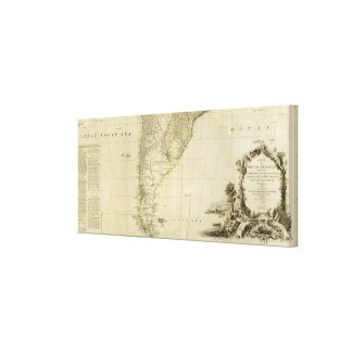 South America Southern Section Canvas Print