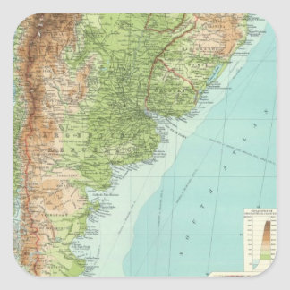 South America southern section Square Sticker