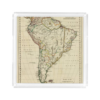 South America with boundaries outlined Acrylic Tray