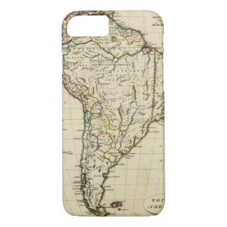 South America with boundaries outlined iPhone 7 Case