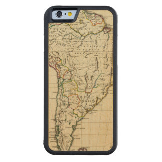 South America with boundaries outlined Maple iPhone 6 Bumper