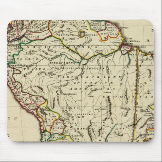 South America with boundaries outlined Mouse Mat