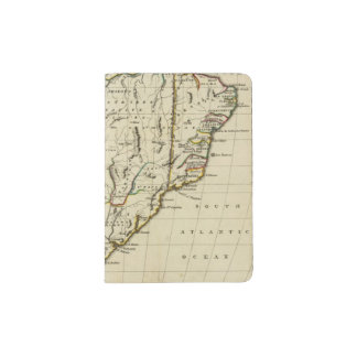 South America with boundaries outlined Passport Holder