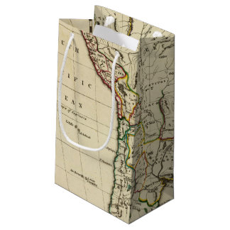 South America with boundaries outlined Small Gift Bag