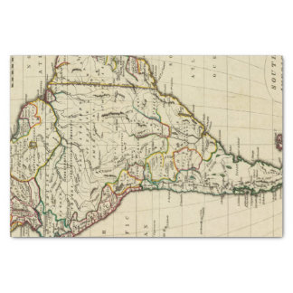 South America with boundaries outlined Tissue Paper