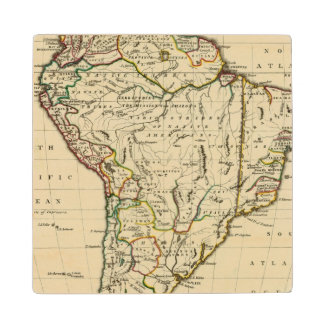 South America with boundaries outlined Wood Coaster