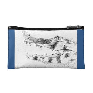 South American Caiman Pencil Bag Cosmetic Bags