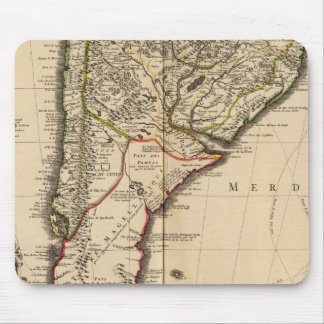 South American engraved map Mouse Pad