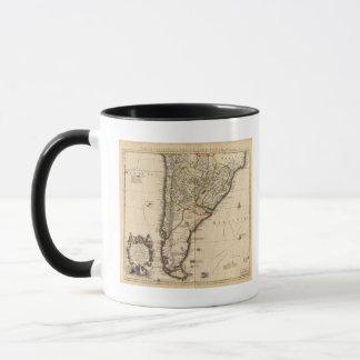 South American engraved map Mug